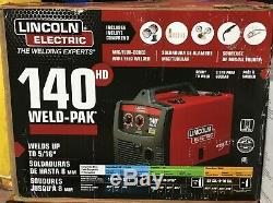 Lincoln Electric 140HD Weld-Pak Wire Feed Welder 115V with Magnum 100L Gun