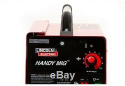 Lincoln Electric Handy MIG Welder 88 Amp Gun Flux Cored Wire Gas Regulator