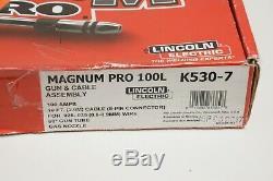 Lincoln Electric Welding Welder Machine Gun MIG Flux Core 100L Magnum Pro Tool