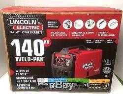Lincoln Electric Wire Feed Welder 140 Amp Weld Pak 140 HD MIG Magnum 100L Gun