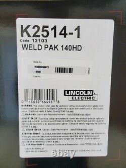 Lincoln K2514-1 Weld Pak 140 HD MIG Wire Feed Welder with Magnum 100L Gun
