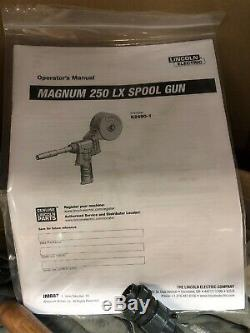 Lincoln Magnum 250-LX Mig Welder Spool Gun Aluminum Welding