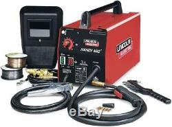 Lincoln Portable MIG Welder Wire Feed Gun Gas Regulator Hose 88 Amp Compact New