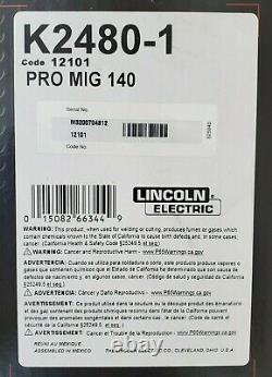 Lincoln Pro-Mig K2480-1 Weld Pak 140 MIG Wire Feed Welder & Magnum & 100L Gun