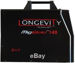 Longevity Migweld 140 MIG Welder with Spool Gun Capability