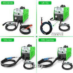 MIG 210 TIG 210A Welder Gas/Gasless 110V/220V 4-in-1 Welding Equipment +mig gun