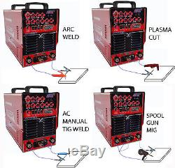 MIG TIG PLASMA ARC WELD MIG, CNC TABLE READY AC/DC, pulse sq wave, ALU, SS, STEEL