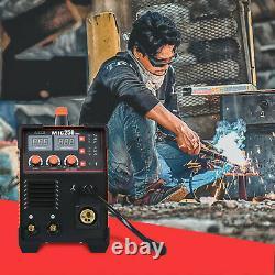 MIG WELDER 200A 110V ARC Stick MIG Gas/ MIG NO GAS 3 IN 1 Inverter GUN WELDING
