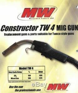 Masterweld 400A MIG GUN 15' TWECO Lincoln welder WM connection Made in USA