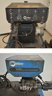 Miller CP-200 200-Amp MIG Welder with S-52A Wire-Feeder Gun/Ground 3-Ph Casters