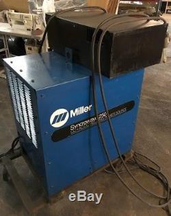 Miller Syncrowave 250 Cc-ac/dc Welding Power Source Welder W Gun, Pedal & Cooler
