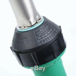 MuGuang 1600W Plastic Welder Welding Hot Air Gun with Speed Nozzles Roller Pe