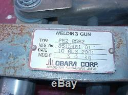 Obara Weld Gun Scissor Type Spot Welder With Pneumatic Cylinder Cat#pe2-8582