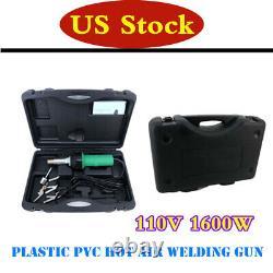 Plastic PVC Hot Air Welding Gun Easy Grip Hand Held Welder Pistol Kit 110V 1600W