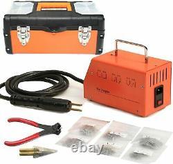 Plastic Welder Bumper Repair Kit Hot Stapler Welding Gun Machine with 600pcs