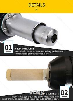 Plastic Welder Gun Vinyl Floor Hot Air Welding Kit Roofing Heat Gun kit Triac S