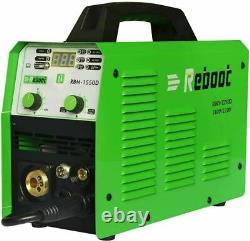 REBOOT MIG-1550D, 150A MIG/MAG/TIG/Stick Arc DC Welder, Spool Gun Weld Machine