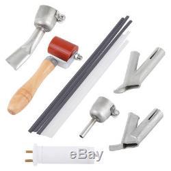 Ridgeyard 1600W Heat Hot Air Gun Plastic Welding Welder Tool Kit Nozzle Rod