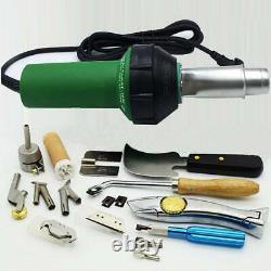 Ridgeyard 1600W Hot Air Gun Plastic Welding Heat Welder Kit with Nozzles & Rod