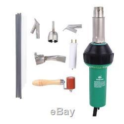 Ridgeyard Hot Air Torch Gun Plastic Welding Welder Pistol Nozzles Roller 1600W