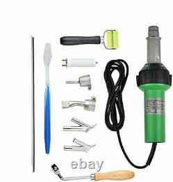 S SMAUTOP 1600W Plastic Welder Welding Hot Air Gun with Speed Nozzles Roller