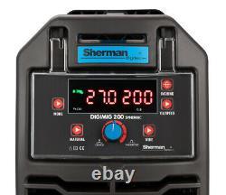 Sherman DIGIMIG 200 Synergic Welder Inverter MIG Welding Machine SET + Spool Gun