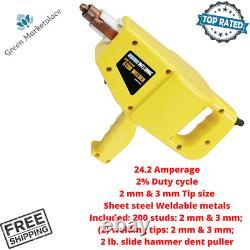 Stud Welder Welding Gun With Slide Hammer For Auto Body Dings Dent Repair Kit