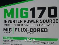 Titanium Mig 170 inverter power source wire feeder gun package welder mig/flux