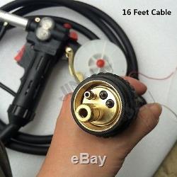 Toothed 16Ft Euro Adpator MIG Welder Spool Gun SIMADRE 200V MAG180i 180AMP IGBT