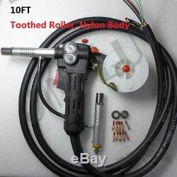 Toothed Roller 10 Feet MIG Spool Gun Wire Feed Aluminum Welder Gun Weld Parts