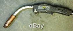 Tweco Cablehoz, Mig Welder Hose & Gun, 12' Long, Wire Size 0.035 0.045