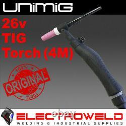 UNIMIG 26V TIG TORCH 4M 180 Amp GUN WELDING LIFT ARC RAZOR 250 205 WELDER 180A