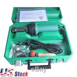 US Weldy 1600W Hot Air Welding Gun Kit Pistol Plastic Welder Heat Gun Torch CE