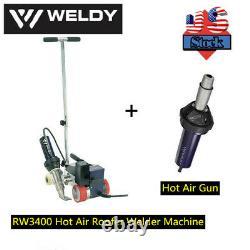 USA Weldy RW3400 Hot Air Welder Roofing Welding Machine+Hot Air Gun 40mm
