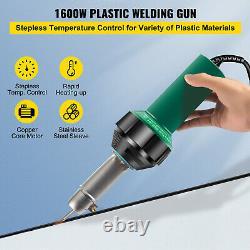 VEVOR Roofing Welder PVC Welding Gun 14 pcs 1600W 120V Welding Tool Kit with Case