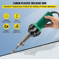 VEVOR Roofing Welder PVC Welding Gun 16 pcs 1600W 120V Welding Tool Kit with Case