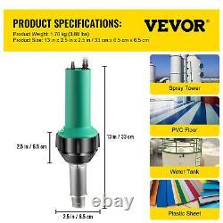 VEVOR Roofing Welder PVC Welding Gun 6 pcs 1600W 120V Hot Air Welding Tool Kit