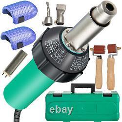 VEVOR Roofing Welder PVC Welding Gun 6 pcs 1600W 120V Welding Tool Kit with Case
