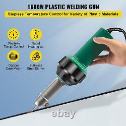 VEVOR Roofing Welder PVC Welding Gun 8 pcs 1600W 120V Welding Tool Kit with Case