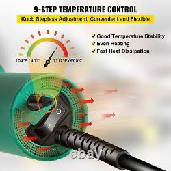 VEVOR Roofing Welder PVC Welding Gun 9 pcs 1600W 120V Hot Air Welding Tool Kit