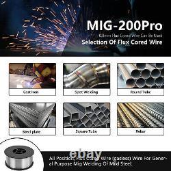 Welding Machine 200A MIG/MAG/TIG/Stick ARC Welder Spool Gun 6-IN 1 Weld Aluminum