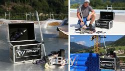 Weldy RW3400 Hot Air Roofer Welder Welding Machine 40mm Width + Hot Air Gun